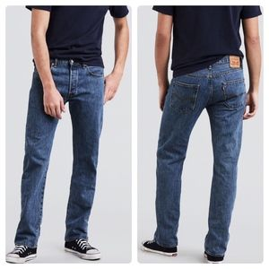 501 XX Original Shrink To Fit Straight Leg Jeans